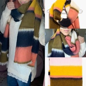 NWT madewell stripeweave scarf colorblock soft